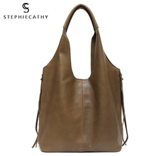 SC Soft Luxuy Retro Cow Leather Bags for Women Bucket Shoulder String Zippers Bag with Liner Bag Vintage Casual Shopping Handbag