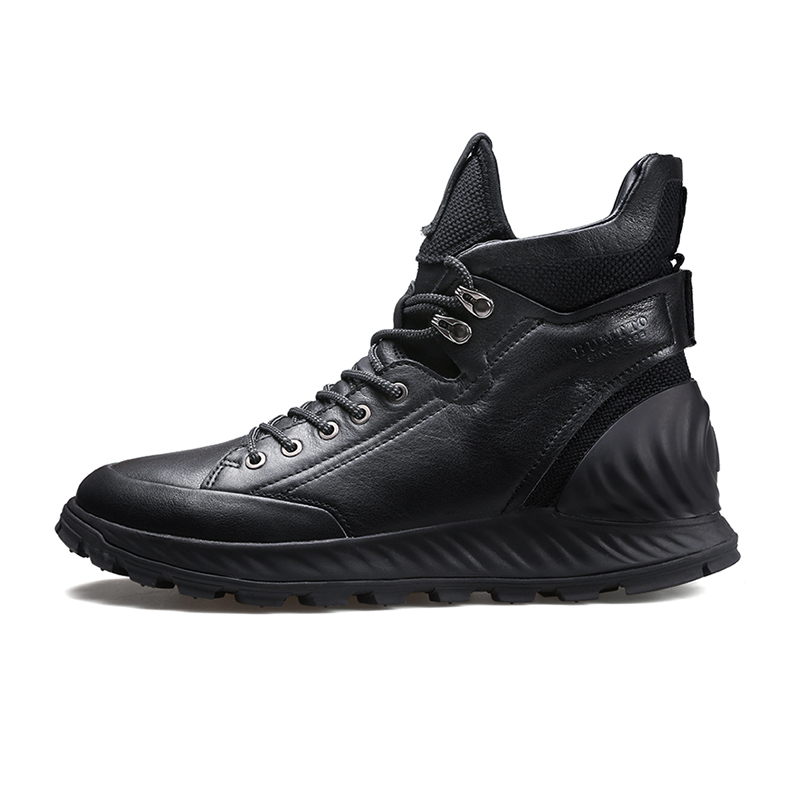 Зимние ботинки из натуральной кожи; мужские ботинки; модная обувь; мужская повседневная обувь в деловом стиле; зимние ботинки; zapatos de hombre - 2