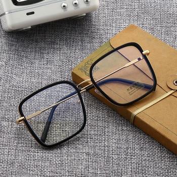 Big Frame Square Anti-blue Light Glasses Frame Oversized Computer Eyewear Frame For Women&Men Square Optical Glasses Eyeglasses 3