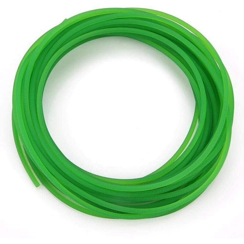 uxcell 10ft 4mm PU Transmission Round Belt High-Performance Urethane Belting Green for Conveyor Bonding Machine Dryer