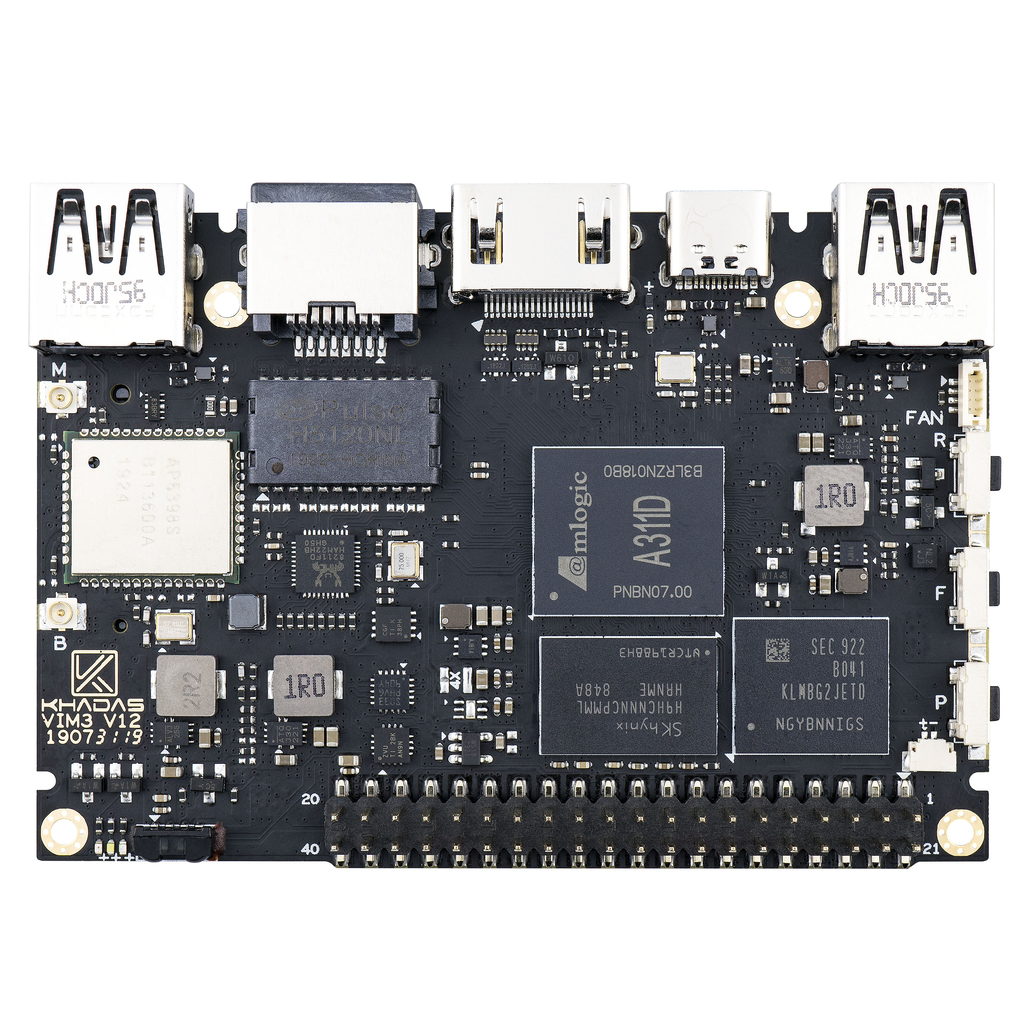 2019 Most Powerful Single Board Computer With 4GB LPDDR4/4X + 32GB EMMC And 5.0 NPU Khadas VIM3 Pro Demo Board image