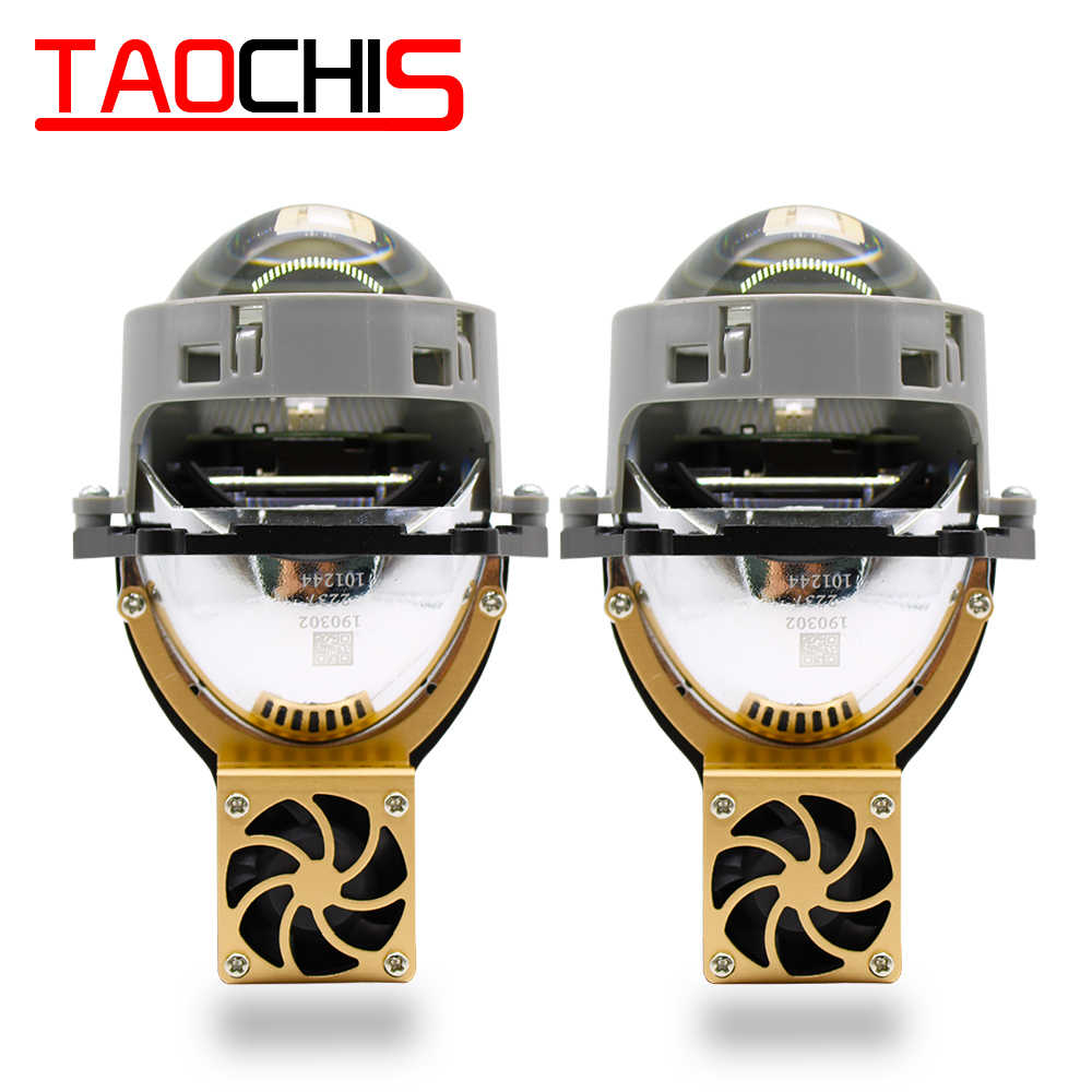 TAOCHIS Auto Car Styling 3.0 inch Bi-LED projector lens LED Head light Lens Retrofit upgrade Universal Fast bright
