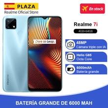 Versión global Realme 7i 7 i 4GB 64GB Smartphone MTK Helio G85 6.5 '' Pantalla 48MP AI Triple cámara 18W Carga rápida 6000mAh