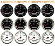 0 3000 rpm tacômetro 85mm do motor da gasolina 4000 rpm rev contador 6000 rpm 8000 rpm medidor de revolução do motor diesel para o caminhão do barco do carro