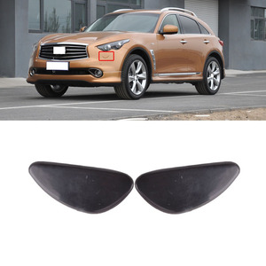 CAPQX For Infiniti FX35 FX37 FX50 FX50S 08-13 QX70 QX70S 14-15 Front Bumper Headlight Washer Nozzle Cover Water Spray hood shell