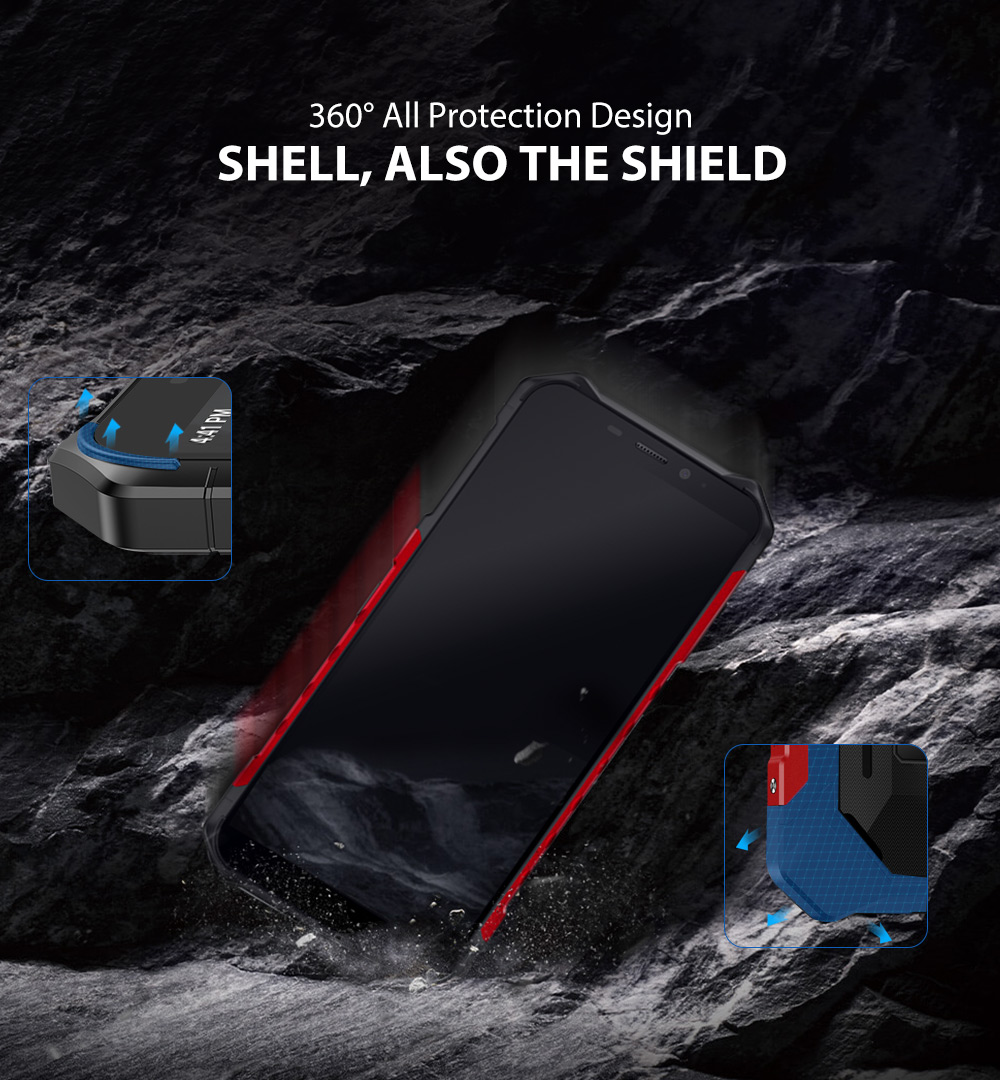 """H54b4b0b188514c9bb0b27386198ee0761 Ulefone Armor X3 Rugged Smartphone Android 9.0 IP68 Android 5.5"""" 2GB 32GB 5000mAh 3G Rugged Cell Phone Mobile Phone Android"""