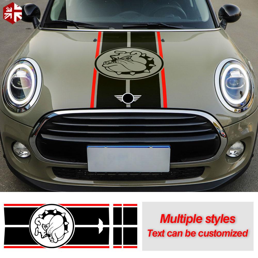 Car Hood Decal Bonnet Stripes Engine Cover Vinyl Rear Trunk Body Sticker For MINI Cooper F55 F56 Clubman F54 JCW One Accessories