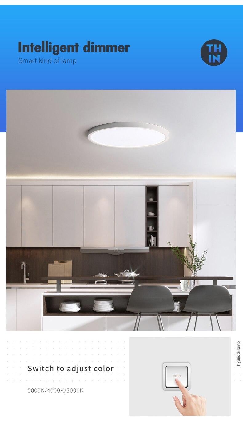 H54b4e3fbc4034e90b4515d9583c6f370s Modern LED Ceiling Light 12W 18W 24W 32W 220V 5000K Kitchen Bedroom Bathroom Lamps Ultrathin Ceiling Lamp