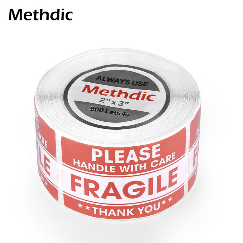 Methdic Handle With Care Warning Packing Shipping Label 2
