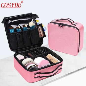 COSYDE profesjonalna kosmetyczka kosmetyczka organizator do torby kobiety podróż makijaż walizki duża pojemność kosmetyki walizki do makijażu tanie i dobre opinie Oxford CN (pochodzenie) 25 5cm Stałe 23cm 9 5cm zipper Moda 0 7kg 1JY256