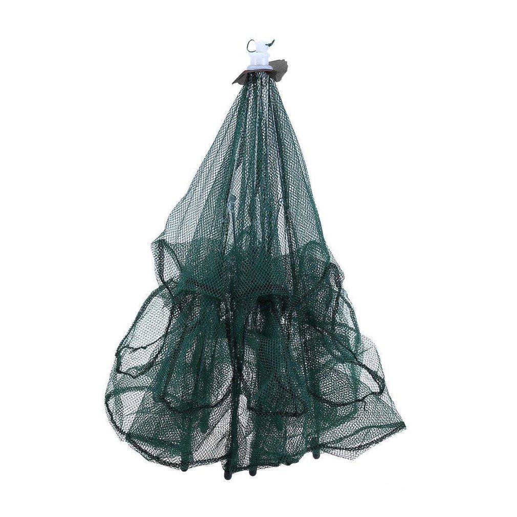 Automatic Folding Umbrella Type Multilateral Fishing Net Shrimp Cage Crab Fish Trap Cast Net
