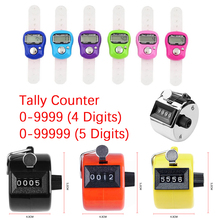 Handheld 4 Digit/ 5 Digit Tally Counter Mechanical Manual Palm Clicker Number Counter Max. 9999/ 99999 Plastic Row Counter