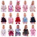 Одежда для кукол, пижамы, 15 комплектов, костюм для прыжков, подходит для 18-дюймовых американских и 43 см младенцев, новорожденных, кукол покол...