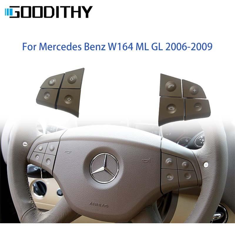 Автомобильный многофункциональный переключатель на руль, кнопки управления телефоном для Mercedes Benz W164 ML GL 300 350 400 450 2006-2009