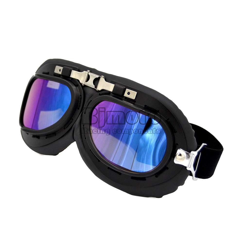 Vintage Motorcycle Goggles Glasses Retro Pilot Cruiser Steampunk Motocross Classic Goggles ATV Bike UV Protection Sunglasses