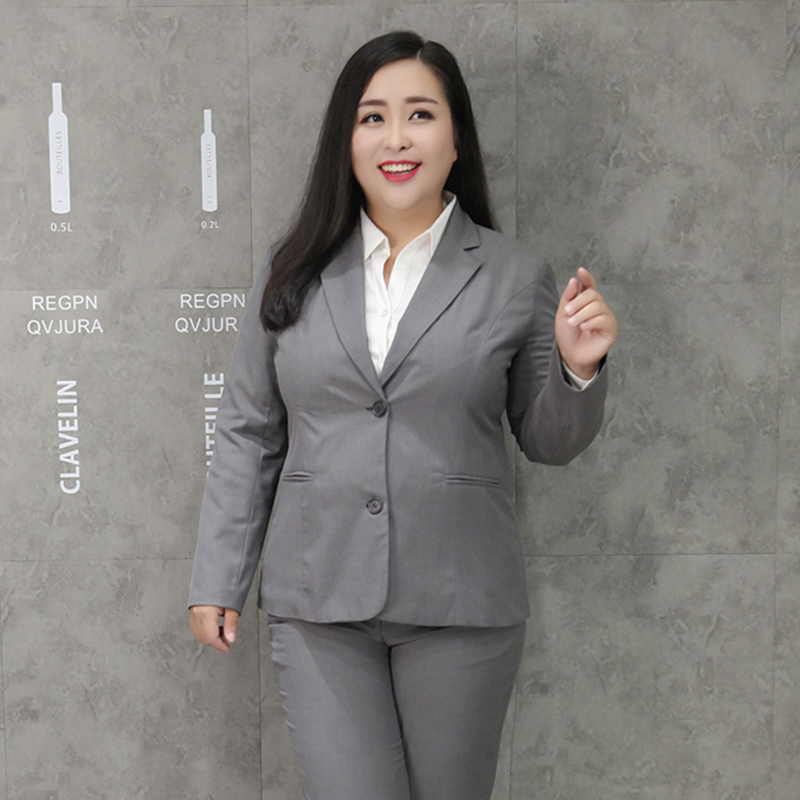 10XL Women New Spring Autumn Large Size Suit Jacket Female Fashion Slim Professional Wear Female Temperament Solid Color Suit
