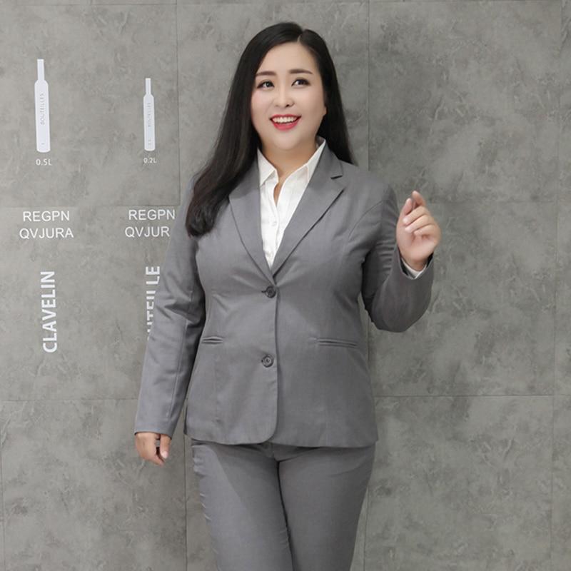 10XL Women New Spring Autumn Large Size Suit Jacket Female Fashion Slim Professional Wear Female Temperament Solid Color Suit