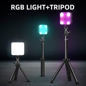 Image 2 - 6W Mini RGB LED Video işığı Tripod ile 2700K 6500K kamera dolgu işığı fotoğrafçılığı aydınlatma için Tiktok Vlog işık lambası