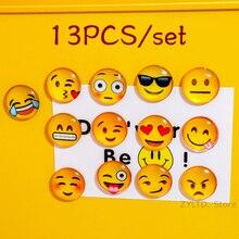 13PCS Lot Smile Emoji Fridge Magnet Face Expression Magnets for Kids Cartoon Refrigerator 25mm Sticker Home Decor