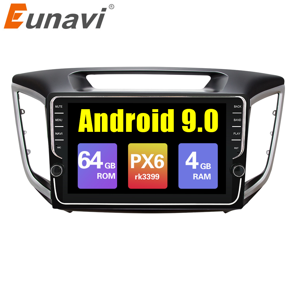 Eunavi 9 inch 2din Android 9.0 car radio gps player For multimedia ix25 hyundai creta navigation stereo video audio pc player image
