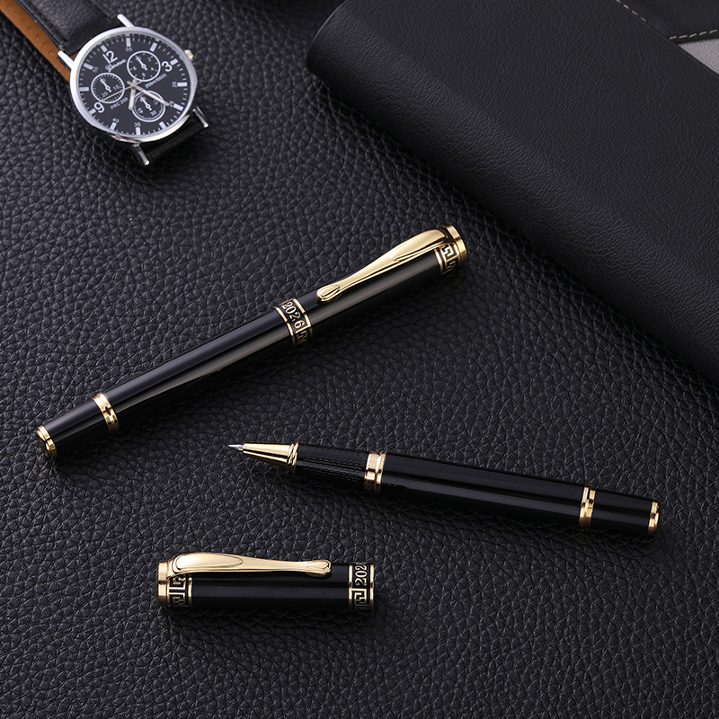 Guoyi A040 класса люкс Eenvoudige Бизнес экзамен металла High-End подарки массовое изготовление на заказ логотип гелевая ручка для подписи журнал леверт
