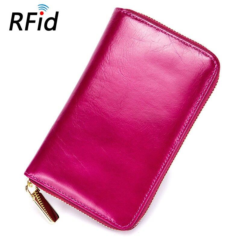 Marque en cuir véritable porte-carte pour passeport multi-fonctionnel hommes femmes haute capacité voyage Documents sac portefeuilles à glissière sac à main