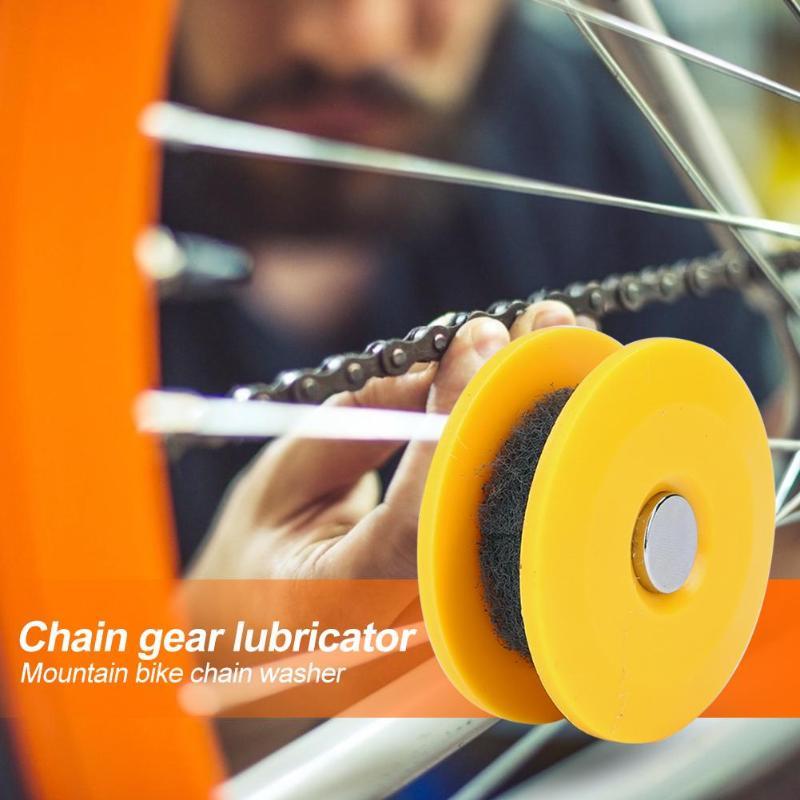 Круглая велосипедная цепь шайба масленка ролик ПВХ смазывание Гладкий сильный компактный практичный маленький легкий Использование желты...