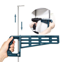 Ascendas Universal Magnetic Laci Slide Jig Lemari Laci Pemasangan Alat untuk Memasang Laci Slide Woodworking Alat