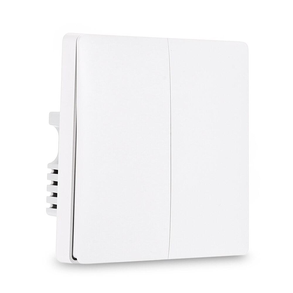 Aqara casa inteligente interruptor de luz controle remoto zigbee wi fi sem fio chave parede fio ao vivo interruptor trabalho para mi jia mi casa app