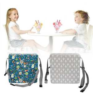 Cushion Booster Dining-Chair Portable Kids Heightening-Seat-Cushion Adjustable-Belt Student