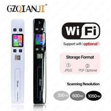 Мини Iscan сканер документов и изображений A4 Размер JPG/PDF Formate Wifi 1050 dpi высокоскоростной портативный ЖК-дисплей для деловых чеков