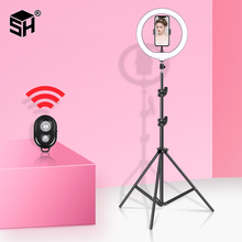 10inch/26cm Selfie Ring Light Dimmable Led Video Light Ring Lamp For TikTok Youtube Photo studio Make Up Video With 2in1 Tripod dimmable diva 12 60w led studio ring light beauty make up selfie video photo