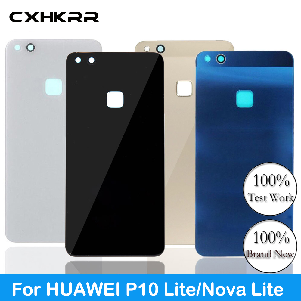 CXHKRR For Original Glass Rear Housing Cover For HUAWEI P10 Lite/Nova Lite,Back Door Replacement Battery Case,Adhesive Sticker