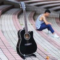 41 Inch Folk Guitar Electric Box with EQ Basswood Guitar Mid Range Guitar Guitar Black