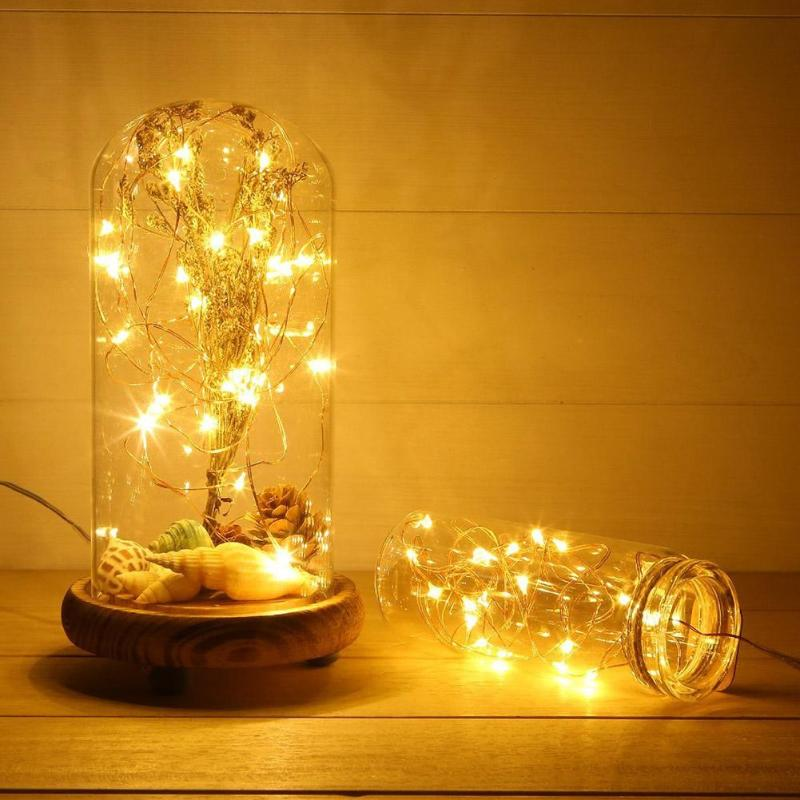 Copper Wire LED Fairy Garland Home Decoration Battery USB String Lights For Festive Christmas Party Holiday Wedding Garden Decor