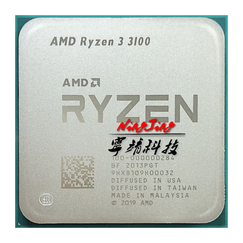 AMD CPU Processor R3 3100 AM4 100-000000184-Socket Eight-Thread Quad-Core 65W Ghz L3--16m