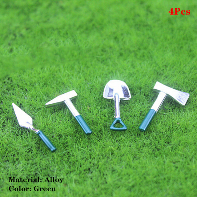 1:12 Dollhouse Garden Yard Watering Can Shovel Tool Scenery Furniture Toy