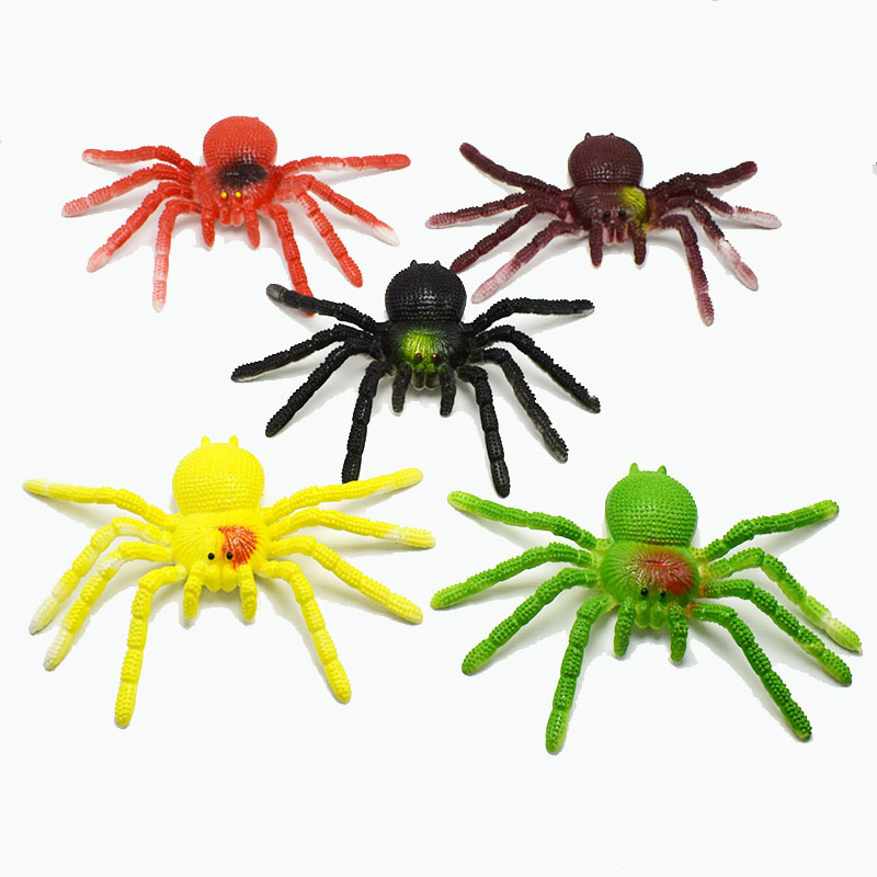Colorful TPR Simulation Big Spider Lizard Goldfish Animal Model Toy Prank Tricky Scary Insect Poisonous Spider