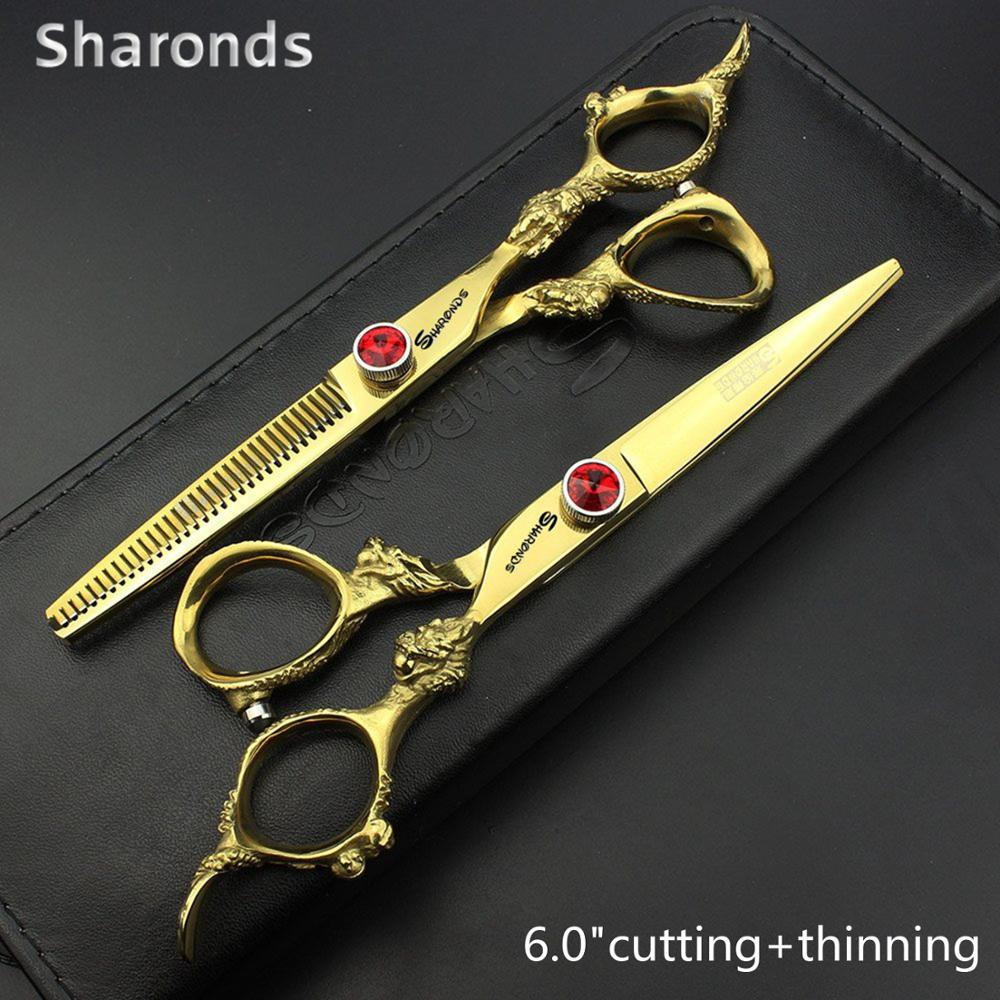 Golden Japan 440c Imported Professional Hairdressing Scissors 5.5&6&7 Inch Barber Scissor Hair Stylist Dedicated Hair Scissors