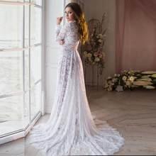 Biała seksowna fotografia ciążowa sukienki koronkowe fantazyjne ciąża strzelać sukienka długie kobiety Maxi suknia macierzyńska dla ciężarnych Photo Prop