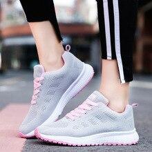 Brand Women Pink White Flat Sneakers Shoes Tenis Feminino Fa