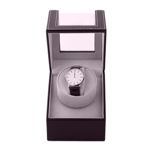 Image 4 - Storage Organizer Display Casket Motor Shaker Holder Automatic Mechanical Watch Winder Box Winding Case Holder Color Brown