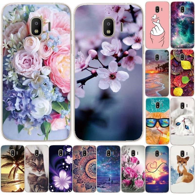 Чехол для Samsung Galaxy J2, 5,0 дюйма, милый ТПУ чехол с цветочным принтом для Samsung J2 2018, чехол на мобильный телефон с рисунком, чехол