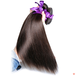 Image 1 - Light Brown Color 4 Straight Bundles Hair Weave Extensions Peruvian 100% Human Hair 1Pc Shining Star Remy  Hair No Tangle