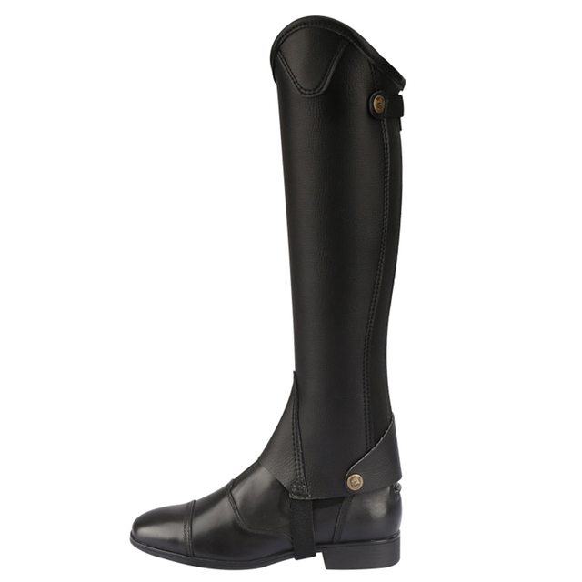 Cavassion Microfiber Bionic Equestrian Leather Riding Boots Half-Chaps For Kids & Adults  5