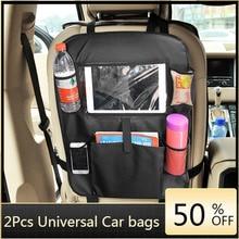 Universal Multi-Pocket Car Storage Back Seat Organizer Holder Convenient Waterproof Travel Bag Stowing Tidying Car Accessories