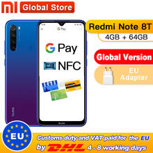 재고! 글로벌 버전 Xiaomi Redmi Note 8T 4GB 64GB NFC 스마트 폰 48MP 쿼드 리어 카메라 Snapdragon 665 Octa Core 4000mAh(China)