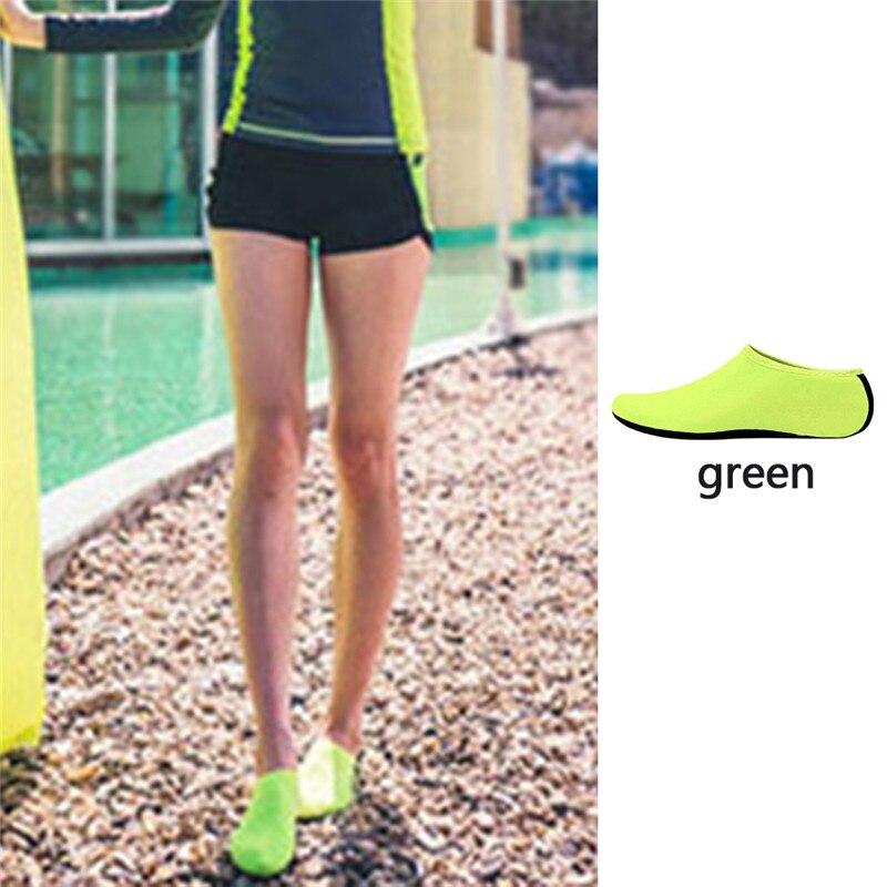 Водонепроницаемая обувь; обувь для плавания для мужчин и женщин; пляжная обувь для кемпинга; обувь для йоги; складная обувь унисекс для взрослых; мягкие Прогулочные кроссовки на плоской подошве; Новинка - Цвет: green