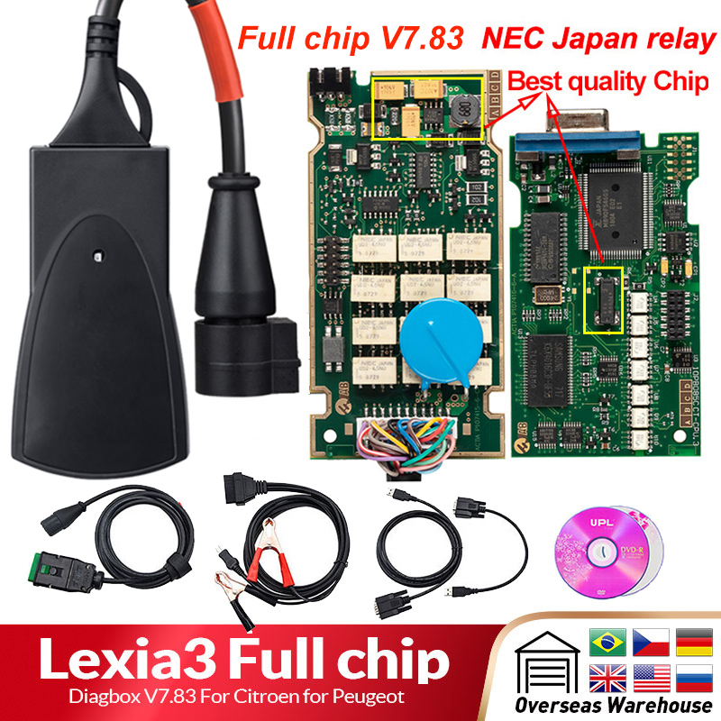 Lexia 3 PP2000 Full Chip Diagbox V7 83 with Firmware 921815C Lexia3 V48 V25 For Citroen Lexia 3 PP2000 Full Chip Diagbox V7.83 with Firmware 921815C Lexia3 V48/V25 For Citroen for Peugeot OBDII diagnostic-tool