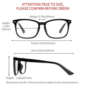 Image 5 - Cyxus bleu lumière ordinateur lunettes pour bloquer les maux de tête noir PC lentille jeu lunettes unisexe (hommes/femmes) 8582